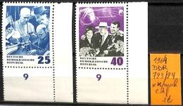 NB - [832868]TB//**/Mnh-Allemagne 1964 - N° 723/24, DDR, Cdf, Sciences - [6] Democratic Republic