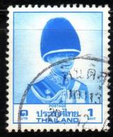 Thailande 1988 King Bhumibol Rama IX 1 Bath Blue Mi N° 1264 Used  3 Samples - Tailandia