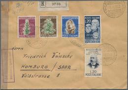 Italien: 1947-1951, Partie Mit 30 Briefen, Dabei Einschreiben Und Zensur, Einige In Mischfrankatur M - Lotti E Collezioni