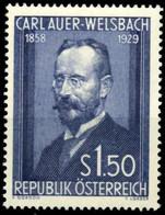 Austria Autriche Österreich 1954: Auer Von Welsbach (1858-1929) Michel-No. 1006 * Falz MLH (Michel 30.00 Euro Für **) - Chemistry