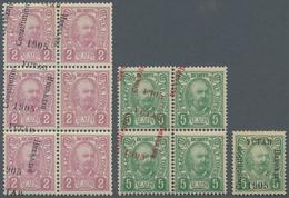 Montenegro: 1905/1906, Overprints, Specialised Assortment Of Apprx. 108 Stamps Showing Many Varietie - Montenegro
