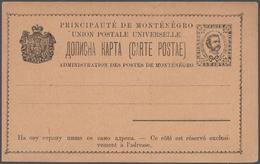 Montenegro - Ganzsachen: 1888/1913, Comprehensive Collection With Ca.300 Mint Postal Stationeries, C - Montenegro