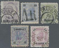 Österreichische Post In Der Levante: 1863/1914, Interessante Sammlung Ab Den Vorläufern, Dabei Brief - Levant Autrichien