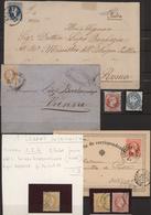 Österreichische Post In Der Levante: 1864/1883 (ca.), Lot Von Fünf Marken Und Drei Belegen, Dabei 2 - Levant Autrichien