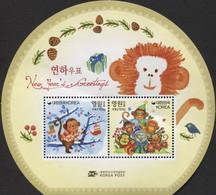 Coree Du Sud Korea 2899/900 Et Bf 629 Zodiaque Chinois, Année Lunaire Du Singe - Astrologia
