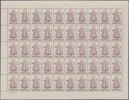 Portugal: 1950, Holy Year, 100 Complete Sets Within (folded) Sheets Resp. Half Sheets, Mint Never Hi - 1910-... République