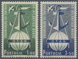 Portugal: 1950, NATO, 50 Complete Sets Of Two Stamps Mixed Mint Never Hinged And Hinged. Michel For - 1910-... République