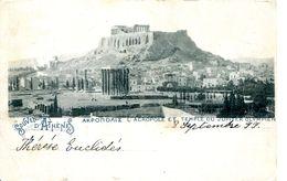 N°4421 R -cpa Souvenir D'Athènes -l'acropole Et Temple Du Jupiter Olympien- - Greece