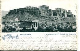 N°4422 R -cpa Souvenir D'Athènes -l'acropole Et Temple Du Thésée- - Greece