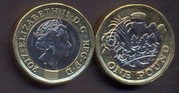Great Britain UK 1 Pound 2017 UNC - 1971-… : Monete Decimali