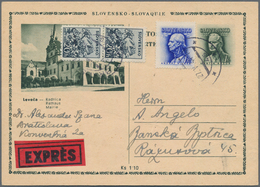 Slowakei - Ganzsachen: 1939/44, Collection About 50 Used/unused Postcards And Picture Postcards Incl - Postal Stationery