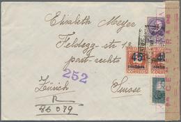 Spanien: 1893-1960, Partie Mit 48 Briefen Und Belegen, Dabei Auch Etwas Portugal, Etliche R-Briefe, - 1931-50 Lettres