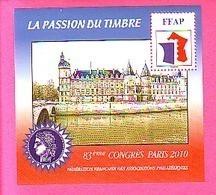 BLOC FFAP 2010 N° 4 ** 83° CONGRES PARIS CONCIERGERIE - FFAP