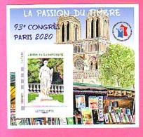 BLOC FFAP N°17  INCLUS MONTIMBRE@MOI 20 G  Passion Du Timbre 93° Congrès PARIS 2020 Jardin Luxembourg NOTRE  DAME BOUQUI - FFAP