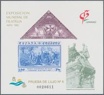 Spanien: 1992, International Stamp Exhibition GRANADA'92 And 500 Years Of Granada Imperforate Specia - 2001-10 Neufs