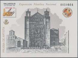 Spanien: 1992, National Stamp Exhibition EXFILNA'92 In Valladolid Imperforate Special Miniature Shee - 2001-10 Neufs
