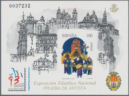 Spanien: 1993, National Stamp Exhibition EXFILNA'93 In Alcaniz Imperforate Special Miniature Sheet O - 2001-10 Neufs
