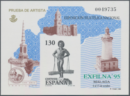 Spanien: 1995, National Stamp Exhibition EXFILNA'94 In Malaga Imperforate Special Miniature Sheet On - 2001-10 Neufs