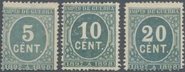 Spanien - Zwangszuschlagsmarken Kriegssteuermarken: 1897, Numerals In Blue-green '1897 A 1898' In A - Fiscales