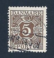 Dänemark Portom. 1921, Mi.-Nr. 11, Gestempelt - Segnatasse