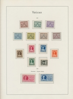 Vatikan: 1933/1958 Postfrische Teilsammlung Auf Leuchtturm Falzlos Vordruckblättern Mti Einigen Spit - Collections