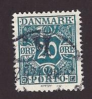 Dänemark Portom. 1921, Mi.-Nr. 14, Gestempelt - Segnatasse