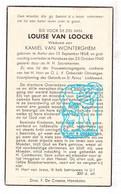 DP Louise Van Loocke ° Aalter 1868 † Hansbeke Nevele / Deinze 1940 X Kamiel Van Wonterghem - Devotieprenten