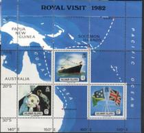 (stamps 16/9/2020) Solomon Island - Royal Visit 1982 -  Mint Mini-sheet - Salomoninseln (Salomonen 1978-...)