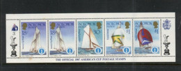 (stamps 16/9/2020) Solomon Island - America Cup 1987 -  Mint Mini-sheet - Salomoninseln (Salomonen 1978-...)