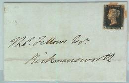 BK0659 - GB Great Brittain - POSTAL HISTORY - PENNY BLACK  On COVER  June 1840 - Briefe U. Dokumente
