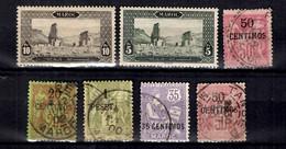 Maroc Sept Bonnes Valeurs Anciennes 1891/1918. B/TB. A Saisir! - Used Stamps