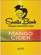 SNAILS BANK CIDER  (WORCESTER, ENGLAND) - MANGO CIDER - PUMP CLIP FRONT - Signs