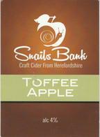 SNAILS BANK CIDER  (WORCESTER, ENGLAND) - TOFFEE APPLE - PUMP CLIP FRONT - Signs