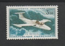 Poste Aérienne -  1960 - 64  -    N° 39    - 3f . Vert Foncé ,olive Et Bleu Vert     - Neuf Sans Charnière - - 1927-1959 Mint/hinged