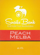 SNAILS BANK CIDER  (WORCESTER, ENGLAND) - PEACH MELBA - PUMP CLIP FRONT - Signs