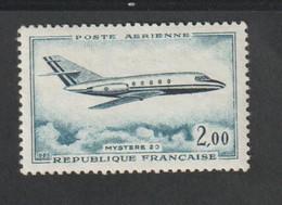 """Poste Aérienne -  1960 - 64  -     42    -  Dassault """" Mystère 20""""     - Neuf Sans Charnière  - - 1927-1959 Mint/hinged"""