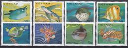 Tr_ Vietnam 1984 - Mi.Nr. 1432 - 1439 - Postfrisch MNH - Tiere Animals Fische Fishes - Fishes
