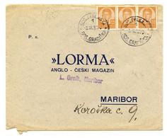 Lorma, Anglo-czech Magazine Reply Letter Cover Posted 1936 Bosanska Gradiška To Maribor B200915 - Slovenia