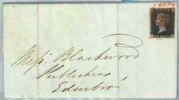 BK0660 - GB Great Brittain - POSTAL HISTORY - PENNY BLACK  On COVER October 1840 - Briefe U. Dokumente