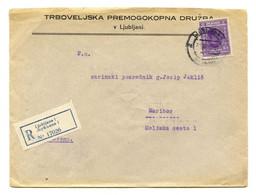 Trboveljska Premogokopna Družba V Ljubljani Company Letter Cover Registered Posted 192? B200915 - Slovenia