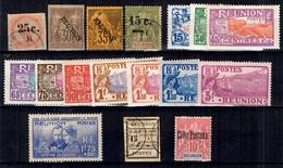 Réunion Belle Petite Collection De Bonnes Valeurs */oblitérés 1885/1938. B/TB. A Saisir! - Réunion (1852-1975)