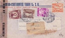 INTER-CONTINENTAL TRADE. PEROU. CIRCULEE LIMA A TERRE HAUTE, U.S.A.. AN 1944. CENSURE. RECOMMANDE. PAR AVION -LILHU - Peru