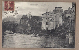 CPA 59 - MAUBEUGE - Les Ecluses - TB PLAN Cours D'eau + Maisons Bâtiments MAGASINS - Maubeuge