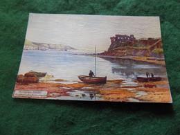 VINTAGE UK DORSET: PORTLAND Sandsfoot Castle Art Wimbush Tuck Textured - Altri