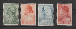 Surinam 1940 Oeuvre Pour La Jeunesse 186-189 4 Val * Charn. - Surinam