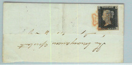 BK0662 - GB Great Brittain - POSTAL HISTORY - PENNY BLACK On COVER - May 1840 Marazion - Briefe U. Dokumente
