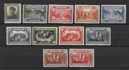 MONACO - YVERT N° 54/64 **/* MNH/MLH (3 PETITES VALEURS *) - COTE = 160 EUR - Monaco