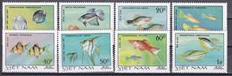 Tr_ Vietnam 1981 - Mi.Nr. 1145 - 1152 - Postfrisch MNH - Tiere Animals Fische Fishes - Fishes