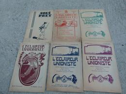 Scout De France Eclaireur Unioniste Lot De 6 Journeaux Sois Pret - Scouting