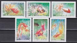 Tr_ Vietnam 1990 - Mi.Nr. 2138 - 2143 - Postfrisch MNH - Tiere Animals Fische Fishes - Fishes